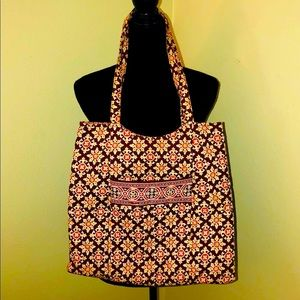 VERA BRADLEY Colorful Paisley Quilted Tote Bag